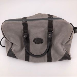 Gray Suede Duffel by Roots